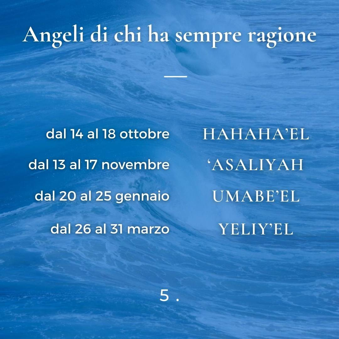 Angeli di chi ha sempre ragione
